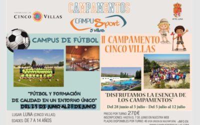 Abiertos Plazos para Campamentos de Verano!!